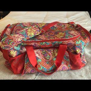 Vera Bradley duffel workout bag